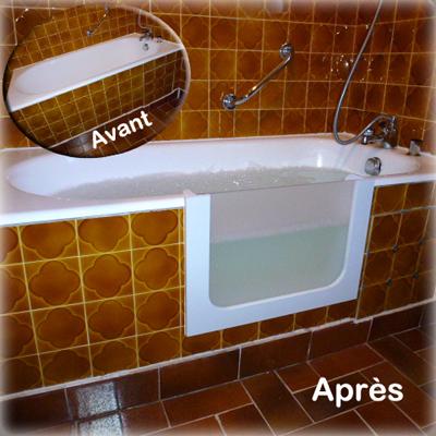 Baignoire services offrez une porte votre baignoire for Transformer un bain en douche